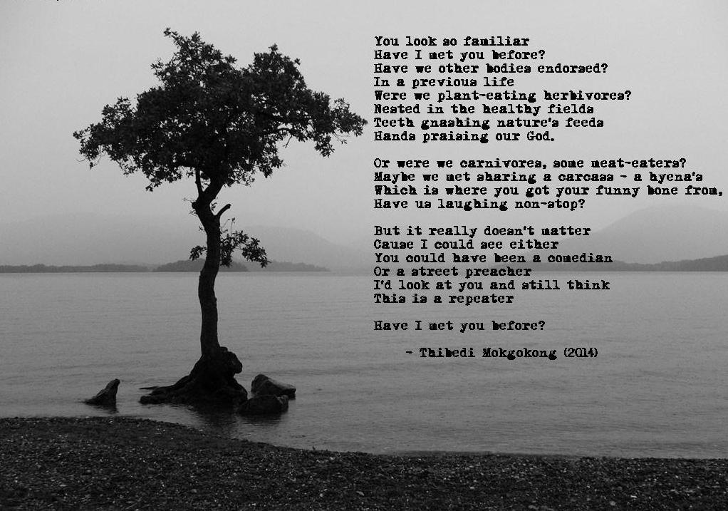 a poem by Thibedi Mokgokong