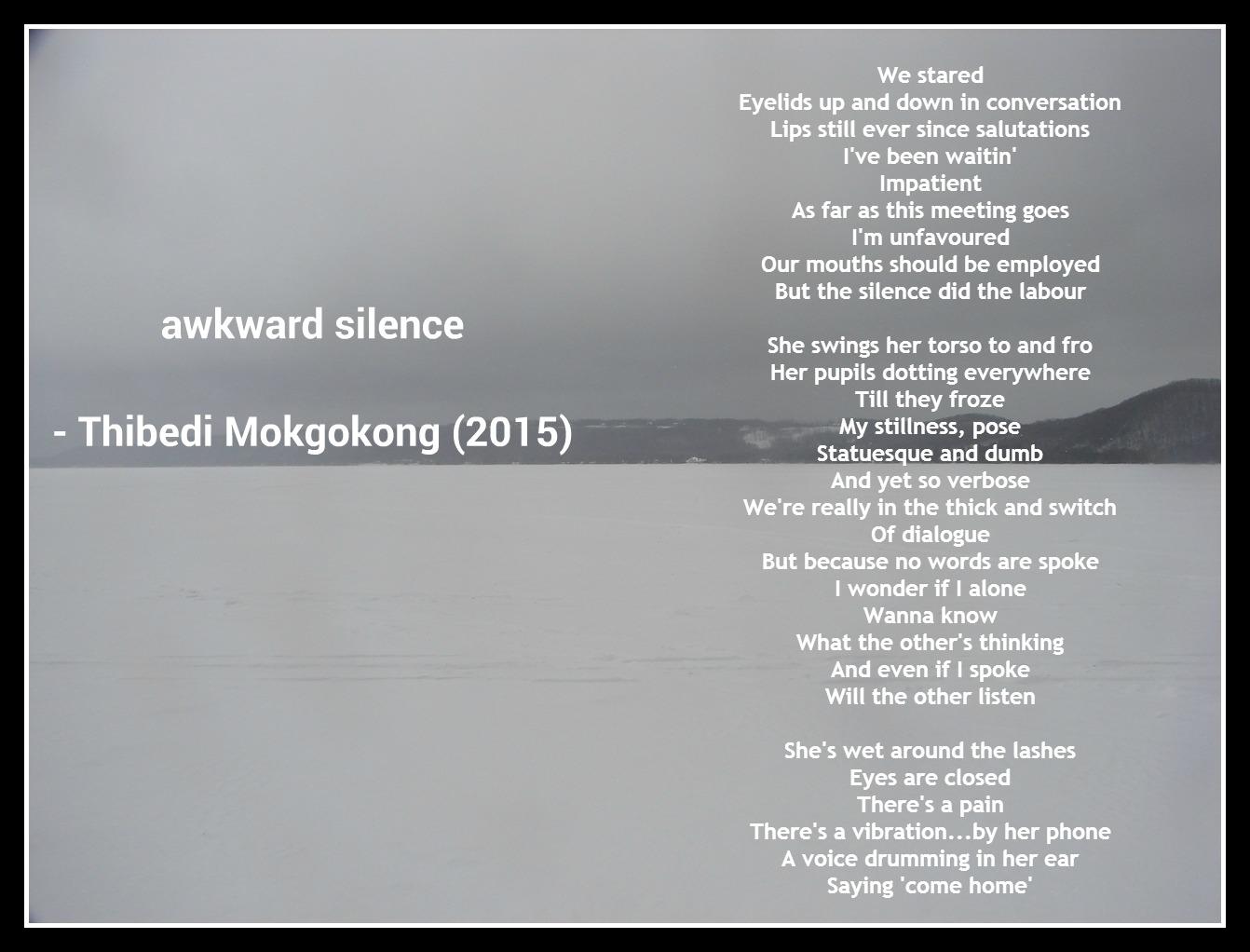awkward silence - thibz