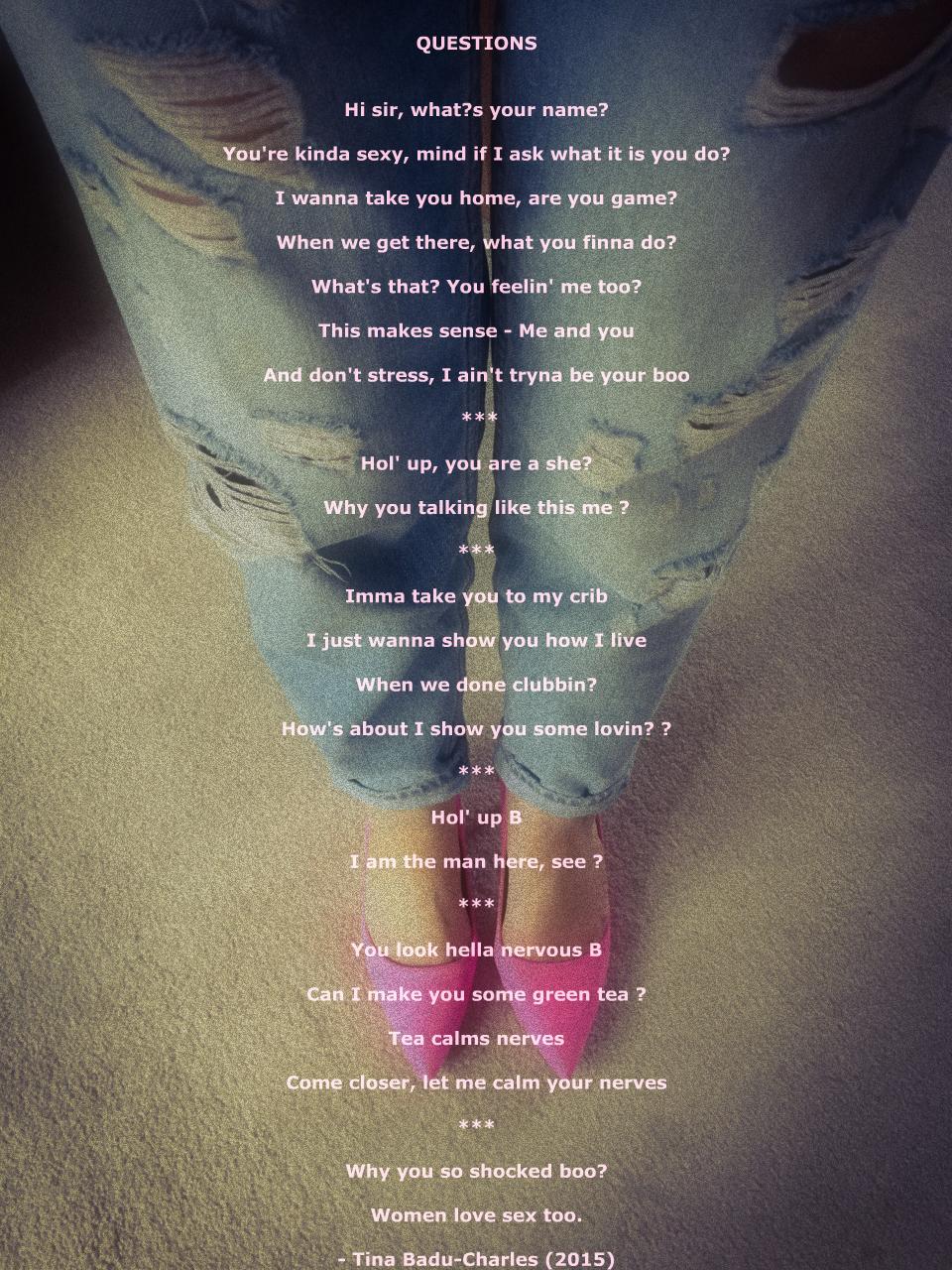 a poem by Tina Badu-Charles